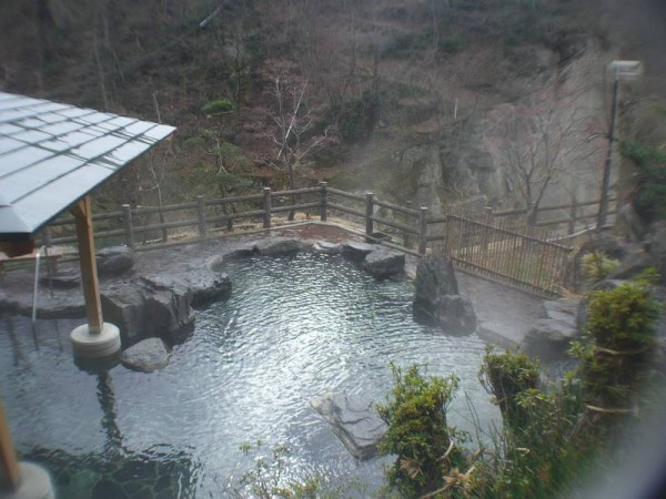 湯野上温泉 旅館 新湯 混浴露天風呂