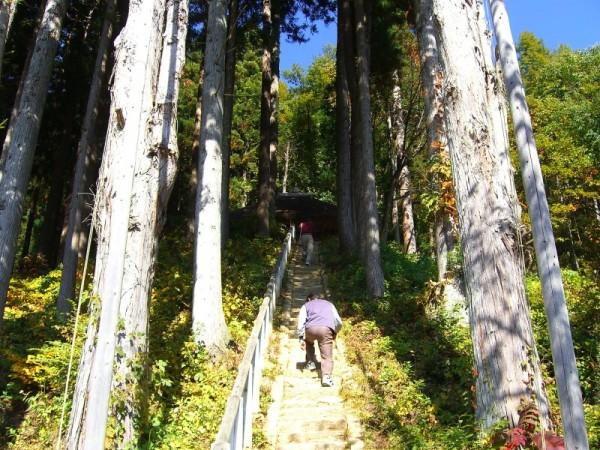 大内宿 子安観音堂への階段