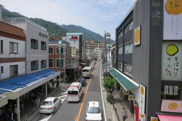 箱根湯本駅からの風景